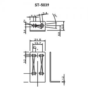 Staffa di supporto ST-5039